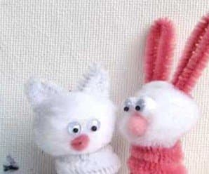 Easter Craft: Pipe Cleaner Finger Puppets